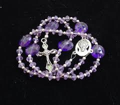 catholic gifts and more amethyst gemstone rosary mini rosary genuine gemstone