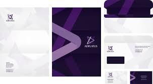interior design card adflatus logo and identity design branding