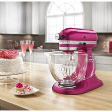 Kitechaid Kitchenaid Ksm155gbri Artisan Design Series Stand Mixer With Glass