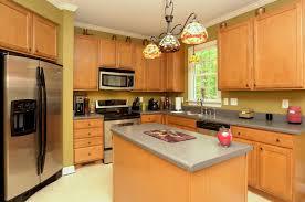 kitchen elegant oak kitchen cabinets green walls espresso