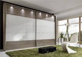 Modern Wardrobe Furniture by Stylform Eos Sliding Doors Truffle Oak Glass Mirror Wardrobe