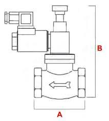 manual solenoid valves vr geca n o 550 mbar