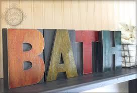 home decor letters letter press block home decor diy bath decor