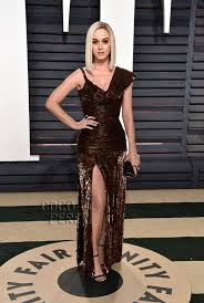 Vanity Fair After Oscar Party Confection Couture Katy Perry Looks Chocolate Dipped On The