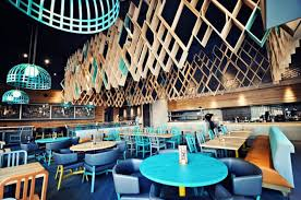 top 5 restaurant interior designs with wooden walls insertions