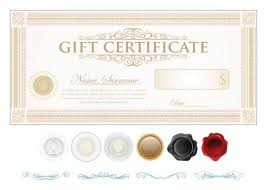 light colored gift certificate template vector 04 vector cover
