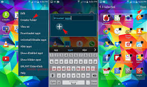 create folder on android samsung galaxy s5 how to create customize or remove folder in