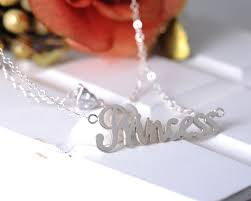 custom charm necklaces wholesale 925 silver name necklace heart custom charm