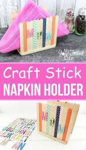 craft stick napkin holder craft sticks napkin holders and napkins