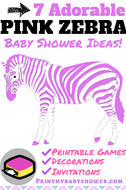 zebra baby shower pink and zebra baby shower theme