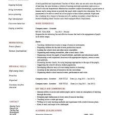 awesome to do music resume template 5 music teacher cv template