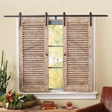 barnwood sliding shutter set