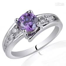 amethyst stone rings images 2018 6mm round stone promise ring purple amethyst 925 sterling jpg