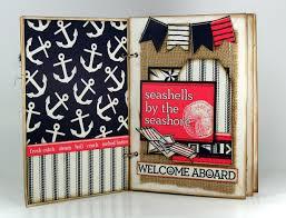 burlap photo album nautical coral and burlap mini album the creative studio