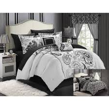 Home Design Down Alternative Color King Comforter Chic Home Olivia 20 Piece Paisley Print Reversible Comforter Set