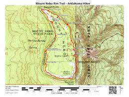 Map Of Arkansas State Parks by Mount Nebo Rim Trail 3 Mi Arklahoma Hiker