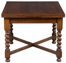 square table with leaf english antique tiger oak draw leaf pub table