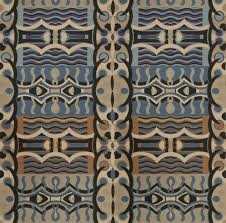designer abstract art deco upholstery fabric multi blue lavender black