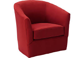 Swivel Armchairs For Living Room Brynn Cardinal Swivel Chair Chairs Red