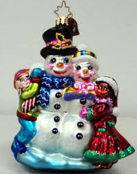 decor radko ornaments with christopher radko snowman ornament and
