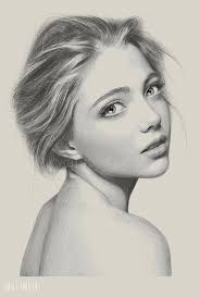 lady face picture pencil drawing of sketch