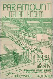 paramount italian kitchen hollywood 1955 u2013 love menu art