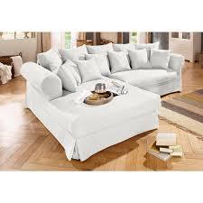 canapé d angle tissu beige canapé d angle fixe à droite ou à gauche en tissu mélangé