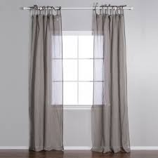interior chic linen draperies and linen drapes with curtains rod