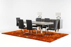 modrest lola modern grey brush dining table by vig furniture