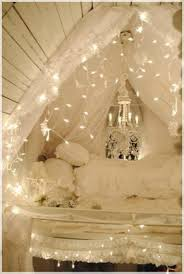 decorations white attic bedroom with christmas decoration