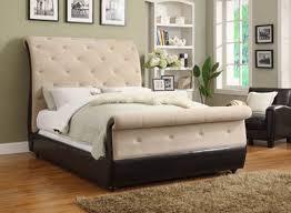 Velvet Sleigh Bed 45152 Velvet Tufted Sleigh Bed Esprit