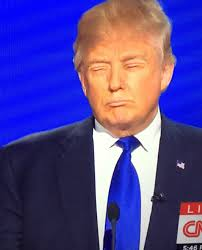 someone swapped donald trump s eyes for his lips and it s just as tap to play gif