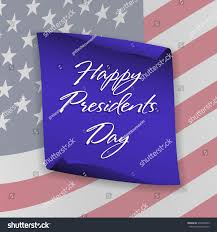 American Flag Backdrop Happy Presidents Day Background On Blue Stock Vector 574838653