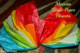 How To Make Mexican Paper Flowers - tales of a dee mama mexican tissue paper flowers