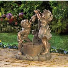 outdoor decor garden fountains home design and decorating