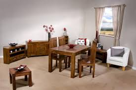 indian wood dining table cube petite indian wood modern 175cm dining table with 4 chairs or 6
