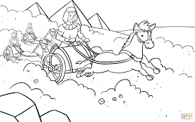 pharaoh u0027s army pursued the israelites coloring page free