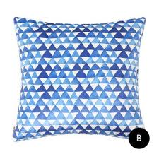 Throws And Cushions For Sofas Watercolor Geometric Throw Pillows Blue And White Decorative