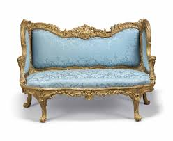 canape a c1753 a louis xv giltwood canape a oreilles by nicolas heurtaut