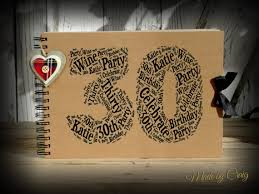 50th Anniversary Photo Album Personalised 30th Birthday Photo Album Scrapbook Guest Book