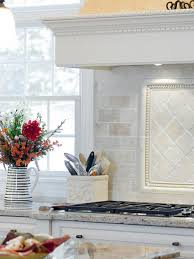 Tumbled Marble Backsplash Houzz - Marble backsplashes