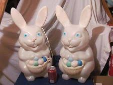 lawn bunny signs outdoor yard vintage plastic easter 5 set