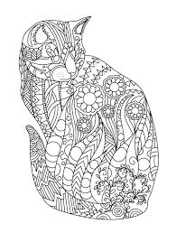 cat colorish coloring book for adults mandala relax by
