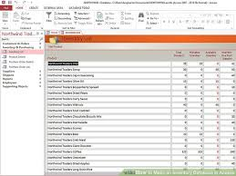 How To Create An Inventory Spreadsheet How To An Inventory Database In Access 6 Steps