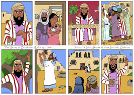 the story of zacchaeus illustrated bible stories by brian w