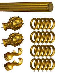 Gold Curtain Rings Fresh Gold Wooden Curtain Rods 18779