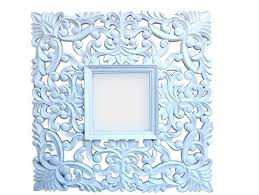 wooden cutting square carved white mirror carved wooden
