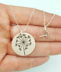 s day necklace gift necklace set jewelry dandelion necklace