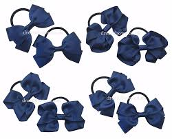 school hair accessories navy blue hair bows thick hair bobbles navy blue school