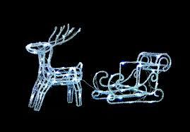 Outdoor Reindeer Christmas Decorations by Uk Gardens Led Twinkle Reindeer And Sleigh Christmas Decoration